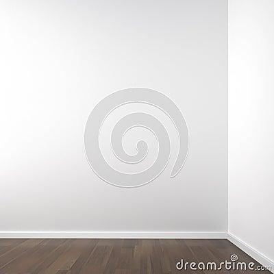 Esquina blanca vacía