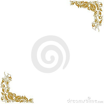 Esquinas decorativas del oro
