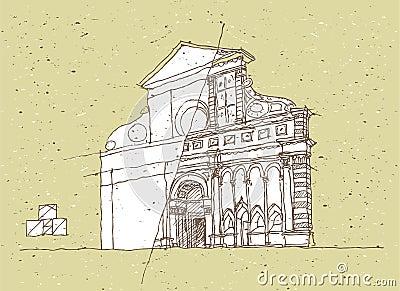 Esquisse de l 39 architecture historique en italie for Esquisse architecture