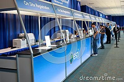 ESRI User Conference 2010 Registration Area Editorial Image