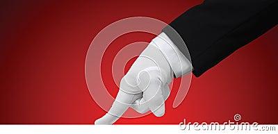 Essai blanc de gant