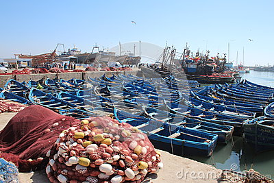 Essaouira Harbor, Morocco Editorial Stock Photo