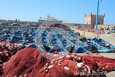 Essaouira Harbor, Morocco Editorial Photo