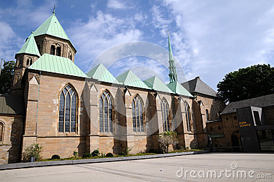 Essen Minster, southern side Editorial Stock Photo