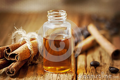Essence Bottle and Cinnamon