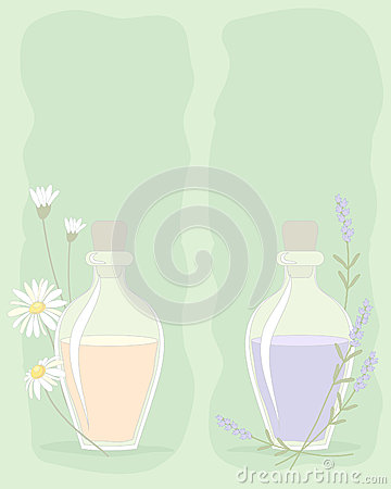 Essential oil background