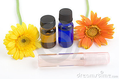 Essential oil and gerbera daisy