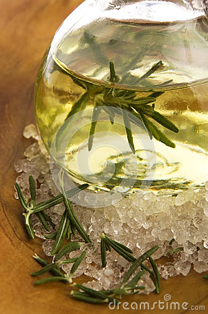 Essential Oil with rosemary and salt