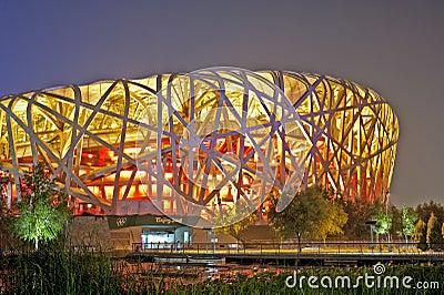 Estádio olímpico de Beijing Foto Editorial