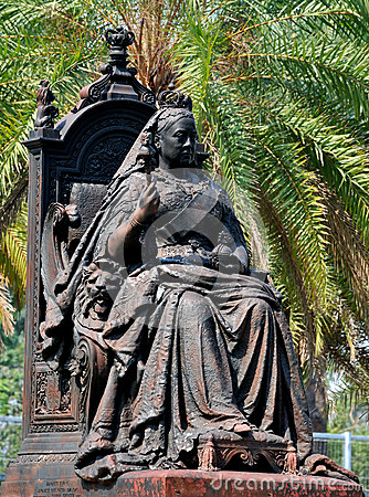 Estátua da rainha Victoria no parque de Hong Kong Victoria