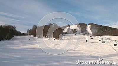 Estância de esqui Mont Tremblant Vista no lado norte video estoque