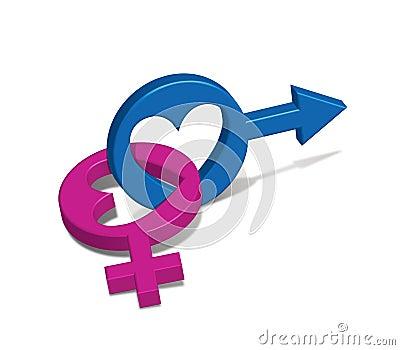 Símbolo masculino feminino