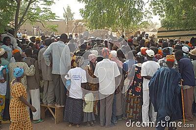 Establishment of a usual chief in Burkina Faso Editorial Stock Photo