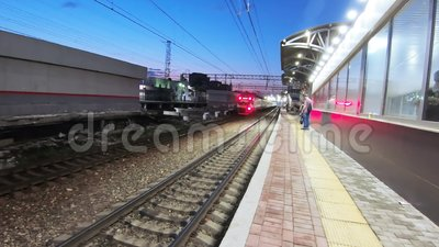 Estación de tren de Podolsk almacen de metraje de vídeo