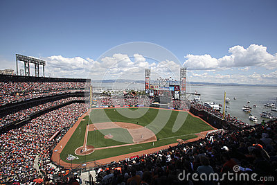 Estadio de béisbol de AT&T, San Francisco Fotografía editorial
