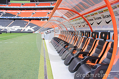 Estadio de fútbol de la arena de Donbass. Foto editorial
