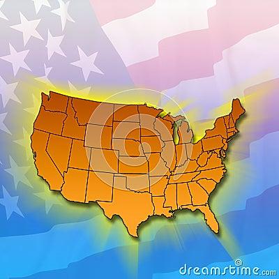 Estados do continente - Estados Unidos