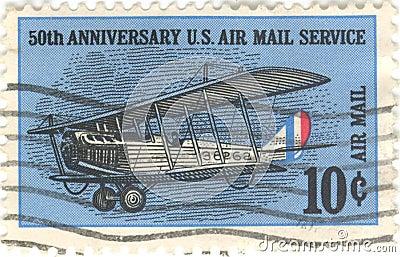 Estampille de service de la poste aérienne des USA