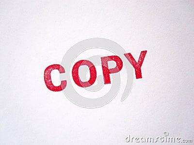 Estampille permissible rouge de copie