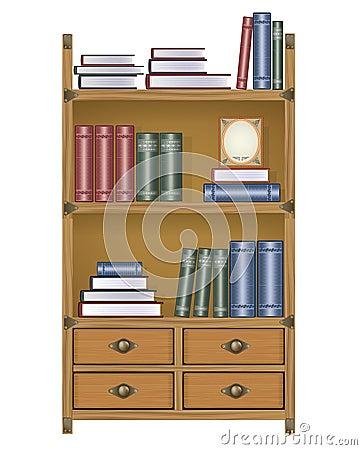 Estante para libros del vector foto de archivo libre de - Estantes para libros ...
