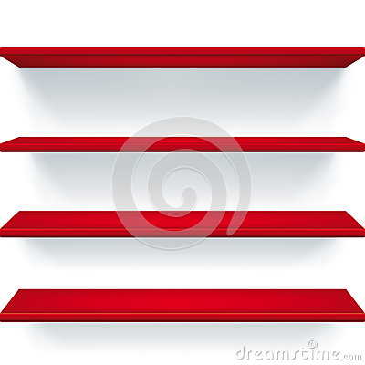 Estantes rojos