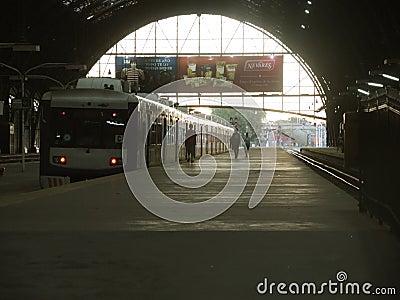 Estação de caminhos-de-ferro, Buenos Aires Foto Editorial