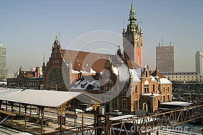 Estação de comboio e trem. Foto Editorial