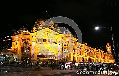 Estação Melbourne Austrália do Flinders Foto Editorial