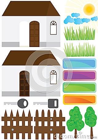 Estate House Home Outside Elements_eps
