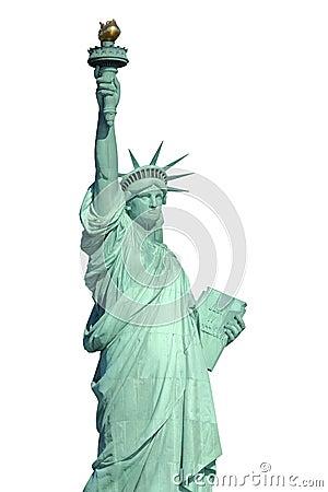 Estatua de la libertad aislada