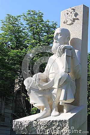 Estatua de Serban Cantacuzino Imagen editorial