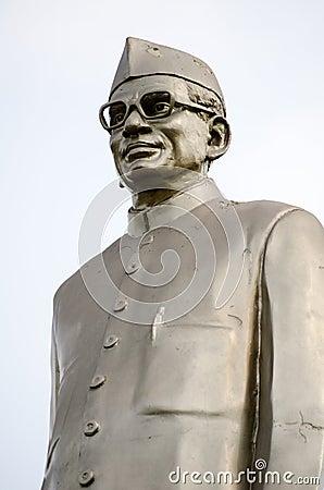 Monumento de Neelam Sanjeeva Reddy Fotografía editorial