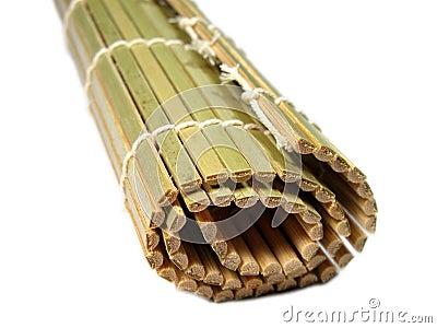 Estera de bambú