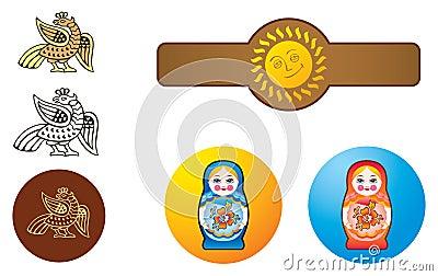 Estilo do ornamental do russo