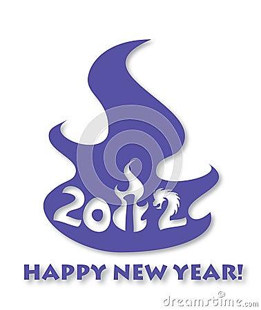 Estilo moderno de la tarjeta de felicitación 2012