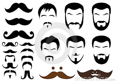 Estilos do Moustache e da barba,