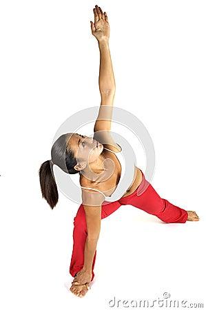Estiramiento de la yoga