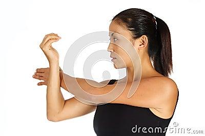 Estiramiento del hombro