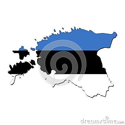 Estonia map flag