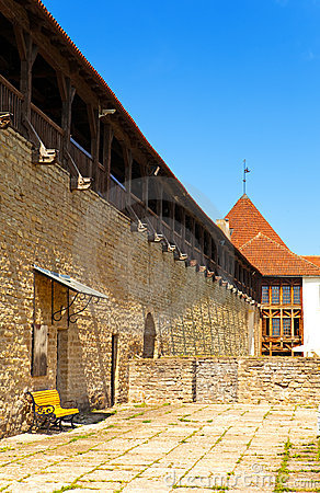 Estonia. Narva. Ancient fortress on border