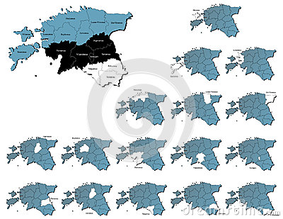 Estonia provinces maps