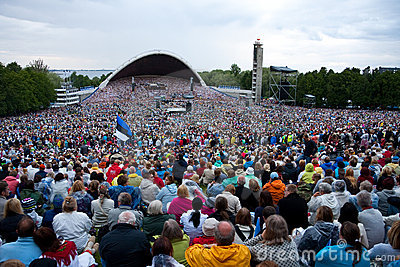 Estonian national song festival in Tallinn,Estonia Editorial Photography