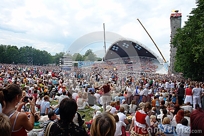 Estonian Song Festival Editorial Stock Image