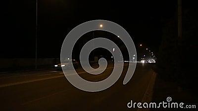 Estrada de cidade da noite filme