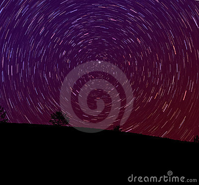 A estrela arrasta a paisagem