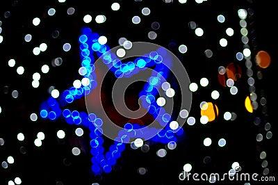 Estrela borrada colorida