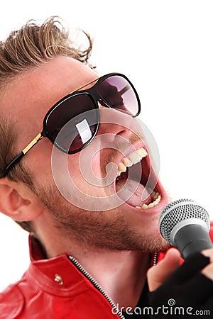 Estrela do rock gritando