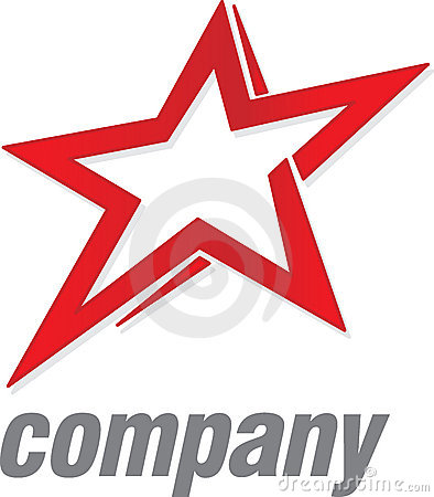 Estrela do vermelho do logotipo