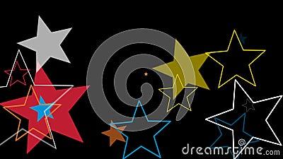Estrelas da transição das crianças ilustração stock