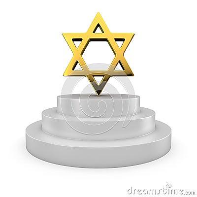 Estrella de David en el podio